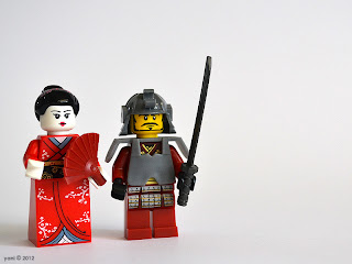 lego geisha and samurai