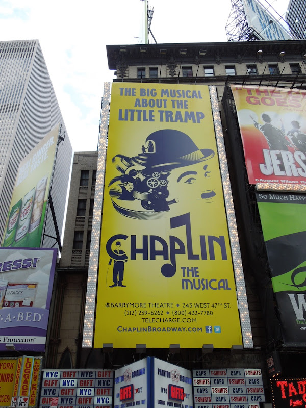 Chaplin Musical billboard Times Square NYC
