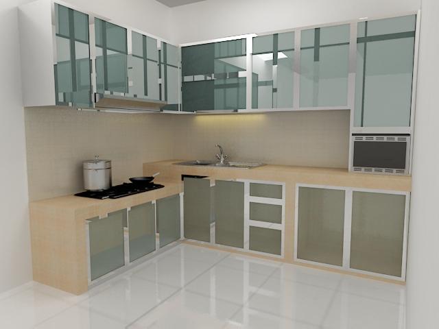 Harga 70 model gambar kitchen set minimalis for Model kitchen set aluminium