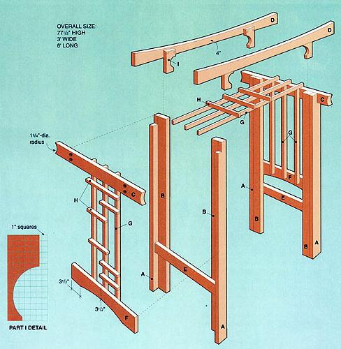 Easy arbor plans free project shed for Plans for arbors