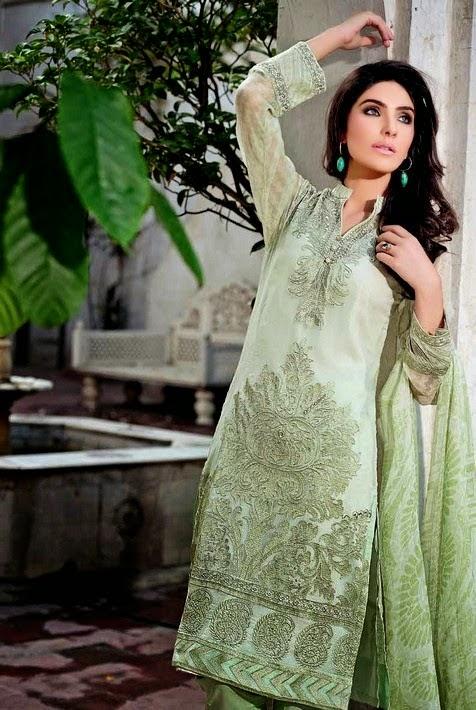 Gul Ahmed Festive Eid Dresses 2014