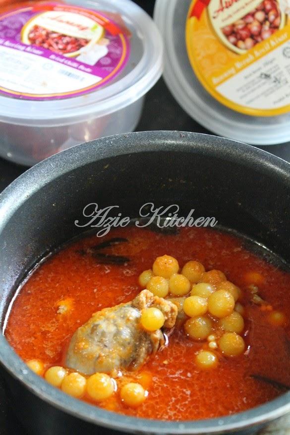 Masak Asam Pedas Telur Ikan Mayong Dengan Rempah Awang