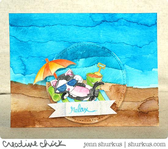 Mister Harley enjoys a Beach Day | Guest Designer Jenn Shurkus | Newton's Nook Designs