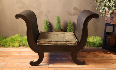 chic iron bench