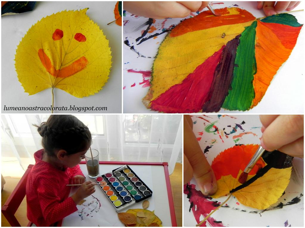 Frunze de toamnă pictate
