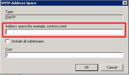 Conector de envío valido para todos los dominios de destinatarios.
