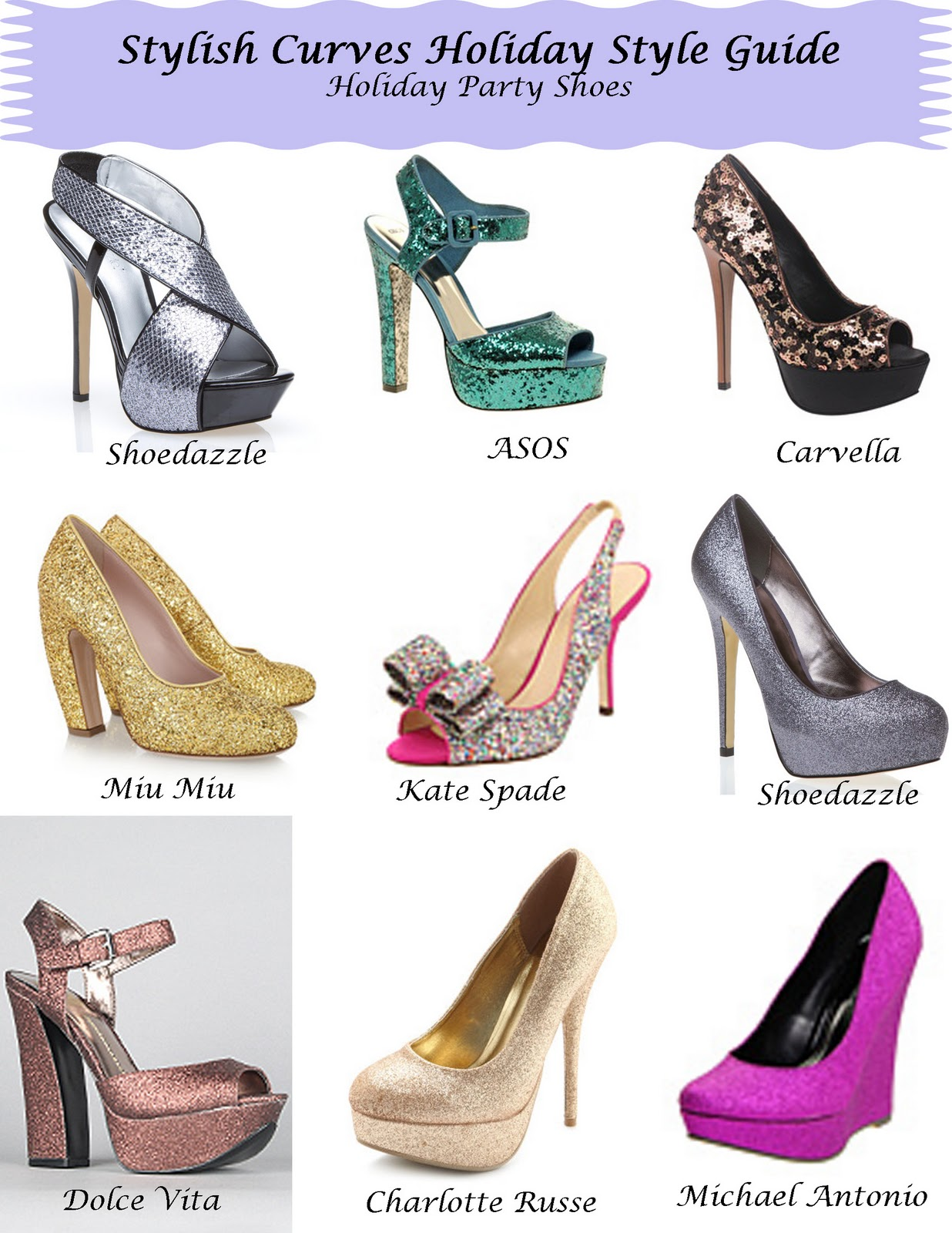 STYLISH CURVES HOLIDAY STYLE GUIDE HOLIDAY PARTY HEELS