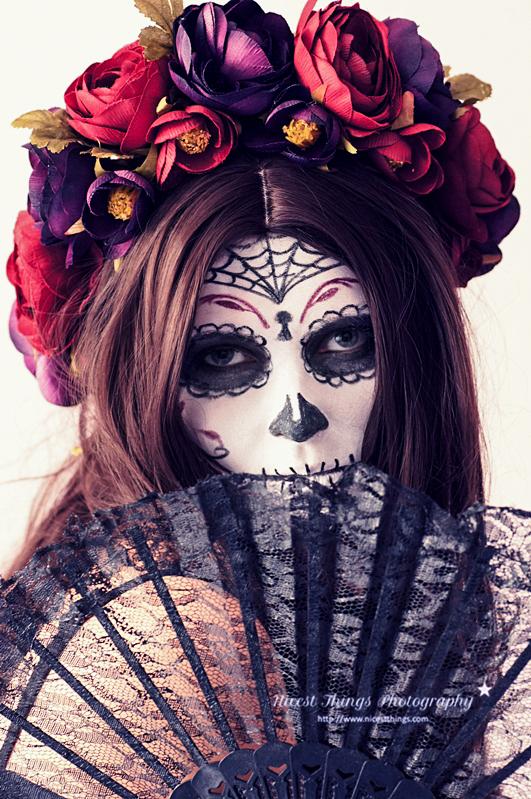 Dia De Los Muertos MakeUp Sugar Skull Makeup #diadelosmuertos #sugarskull #lacatrina #tagdertoten #halloweenkostüm