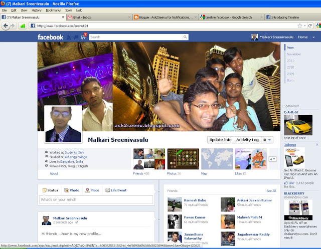 Facebook new Timeline feature is awesome life story of our profile with new facebook profile look