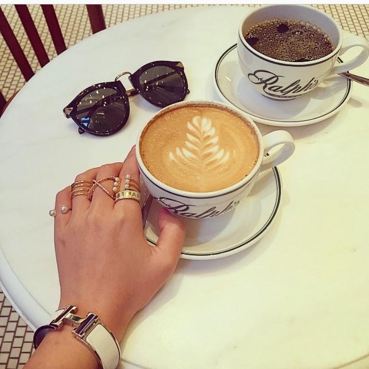 Karen walker sunglasses, ring stack, baublebar, Ralph's cafe