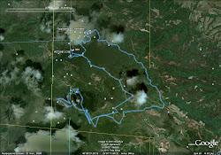 Η διαδρομή του αγώνα απο το Google Earth