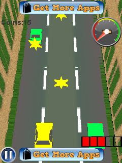 Screenshots of the Speed rush 3D for java mobile, phone.