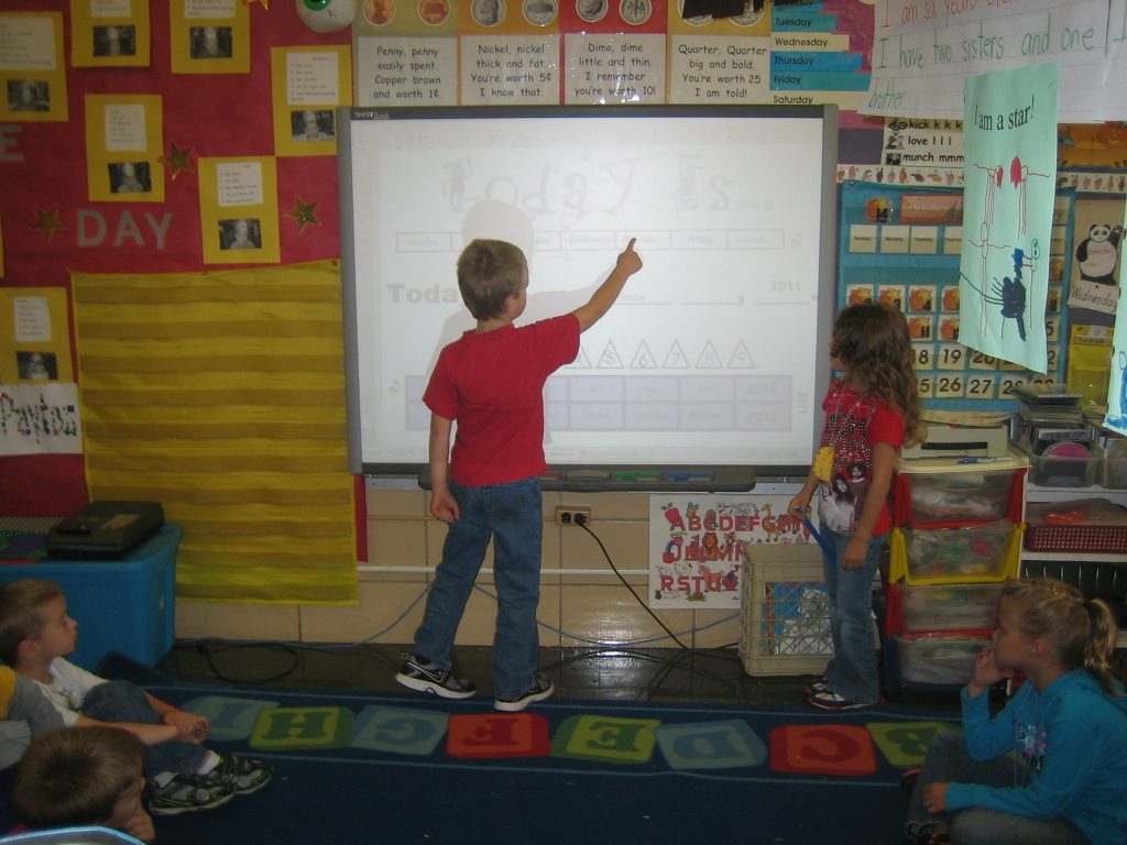 Kindergarten Calendar Smartboard : Busse s busy kindergarten working at the smartboard more