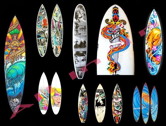 Surfboard Graphic Design