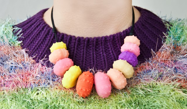 resin necklace, sea urchin necklace, serena kuhl, fluffy jumper