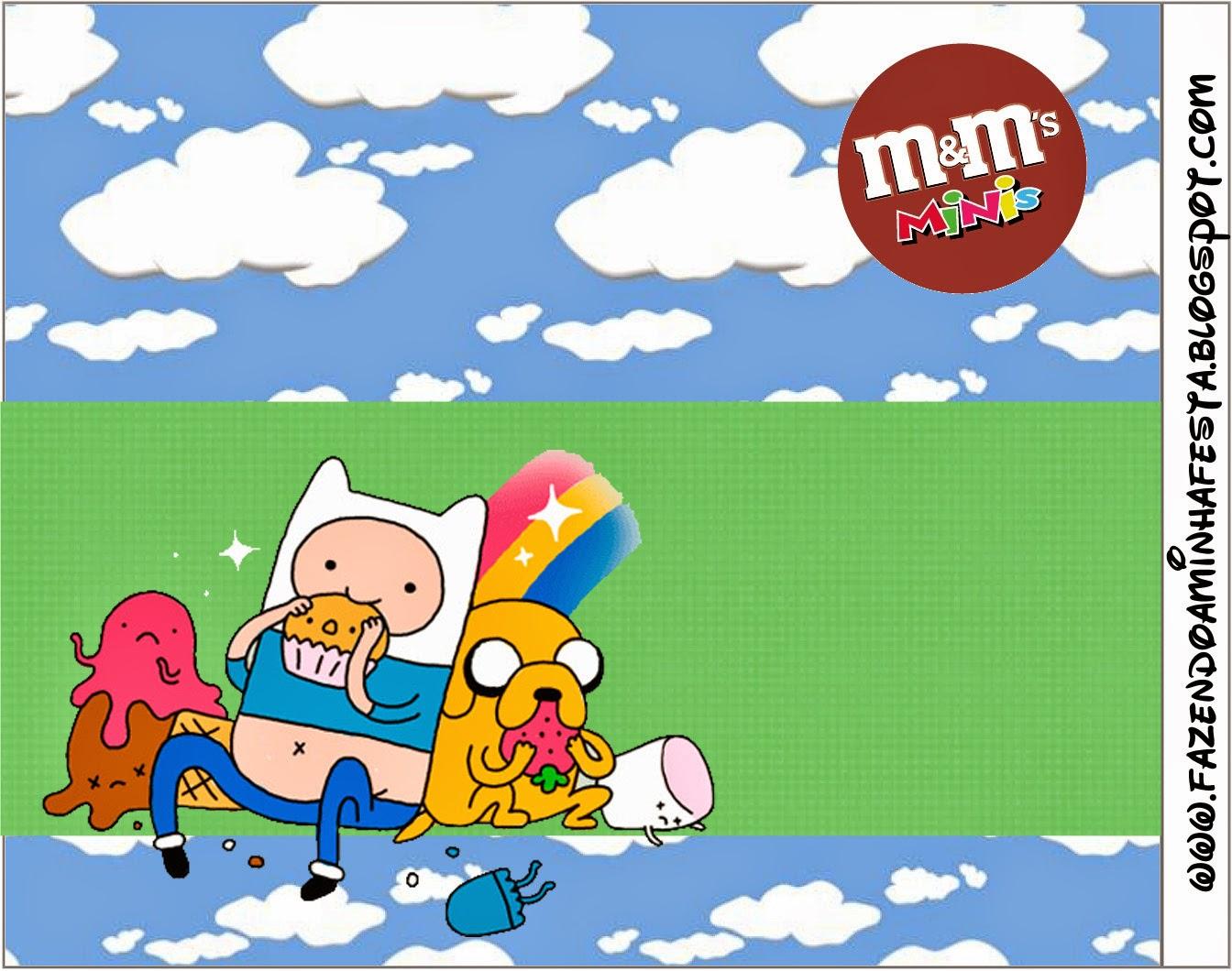Etiqueta para M and Ms.