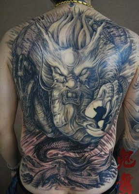Full Back Dragon Tattoo