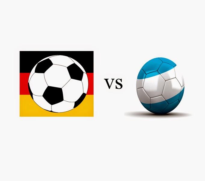 Partai Jerman Melawan Argentina Pada Pertandingan Utama Piala Dunia, Senin tanggal 14 Juli