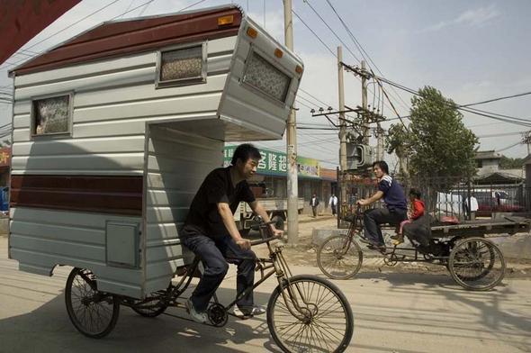 Велодом на колесах фото