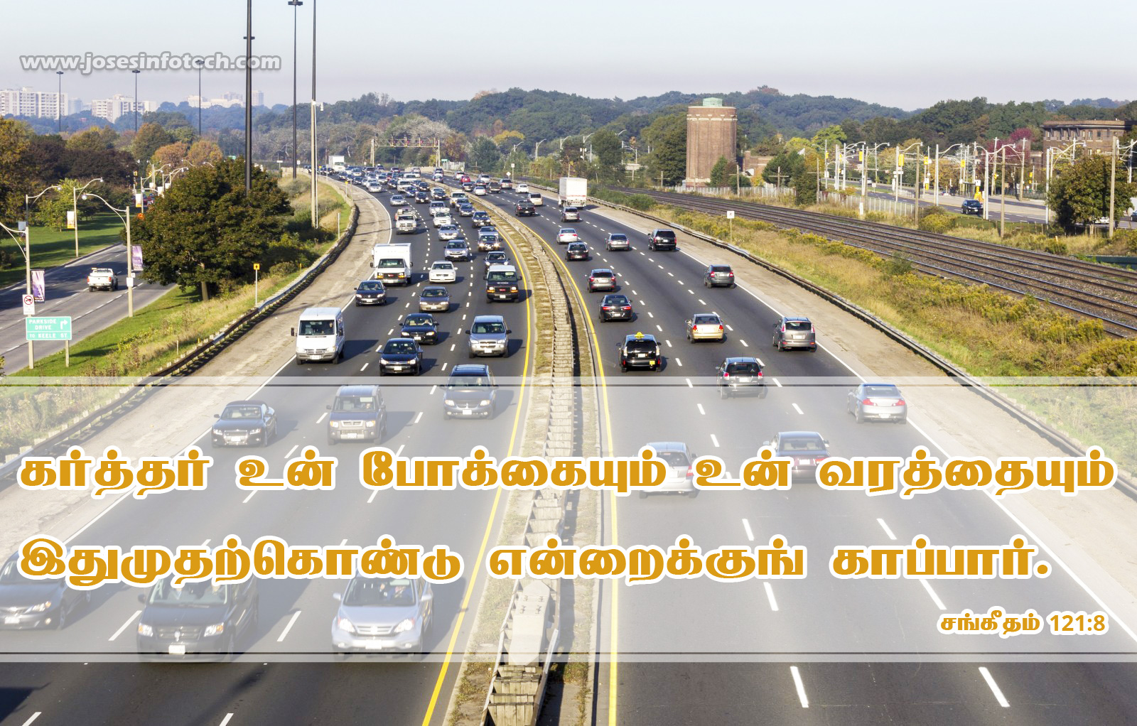 Bible wallpaper Psalm 121:8- Tamil