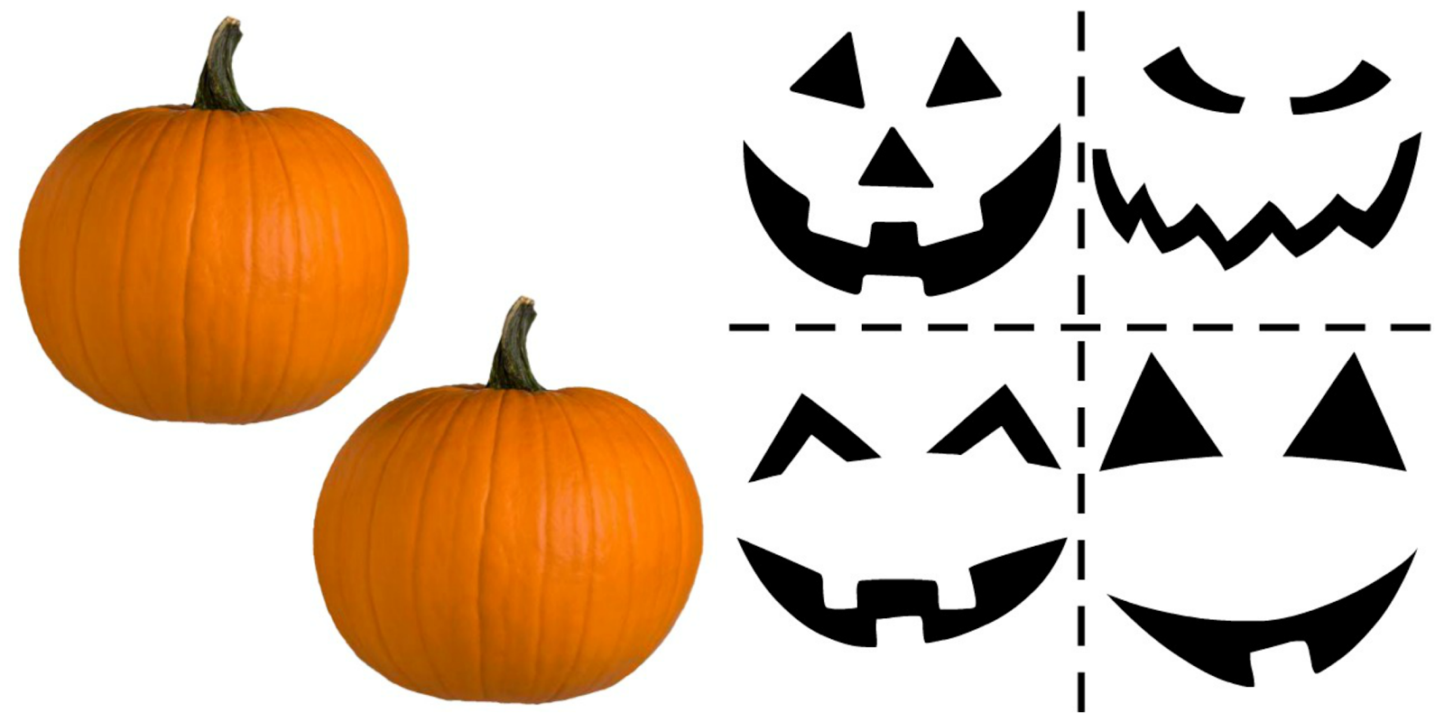 This is a picture of Invaluable Pumpkin Faces Printable