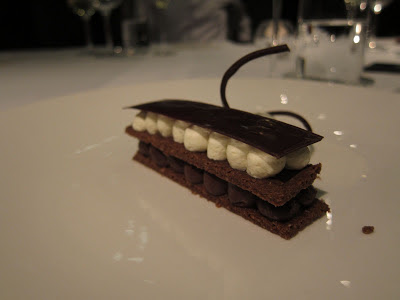 Chocolate and Tonka Dessert at Celeste, Prague