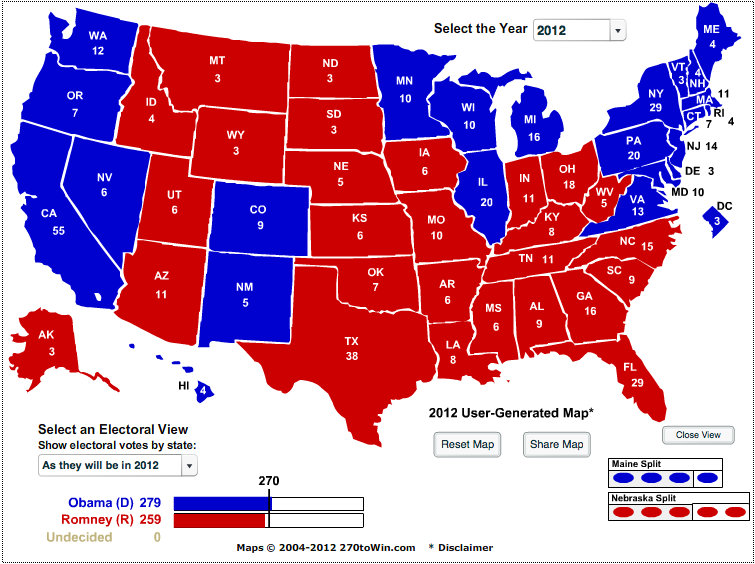 The Liberator Today Electoral Map Today