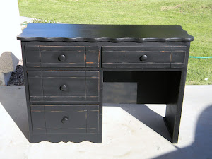 Black Shabby Chic Desk  *SOLD*