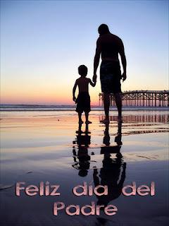 papá e hijo en la playa