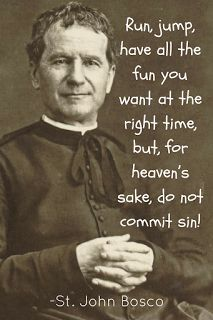 🙏St. John Bosco on doing everything for the glory of God✝🙏 🙏