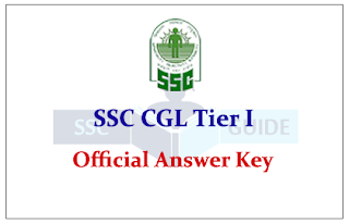 SSC CGL Tire I 2015 Exam Official Answer Key