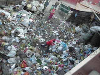 rubbish in canal in Kathmandu
