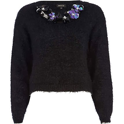 sequin floral jumper
