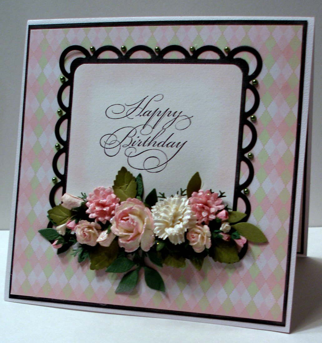 Diane's Country Cards & Crafts: Birthday Card For Joyce