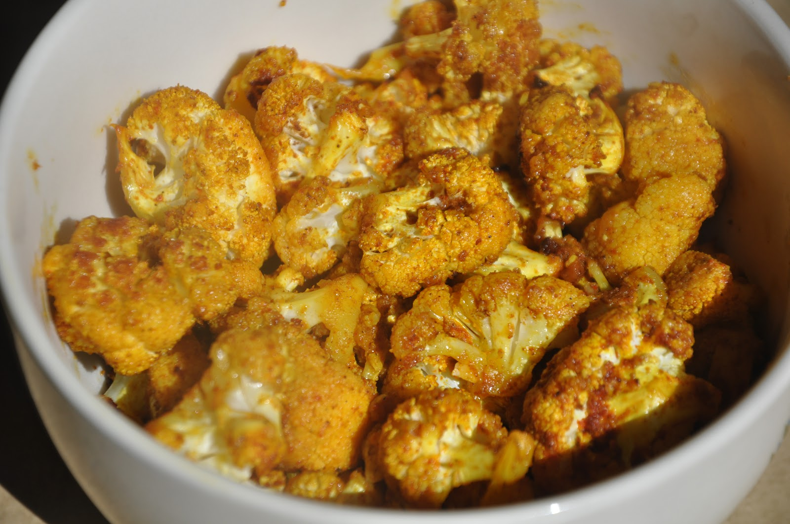 ... in Western India: Oven Baked Cauliflower Curry - Cooking by hubby