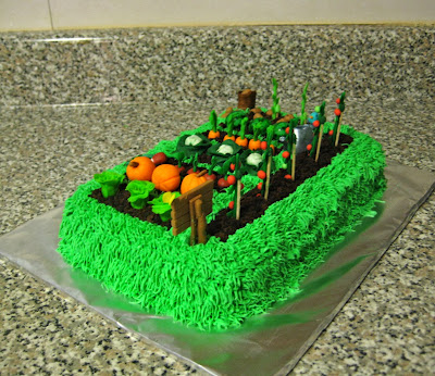 Teacher Appreciation Garden Cake - Back Angled View