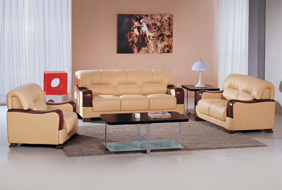 Latest leather sofa set designs an interior design for Leather sofa set