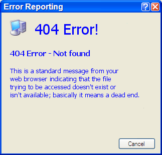 how to get rid of 404 error pages