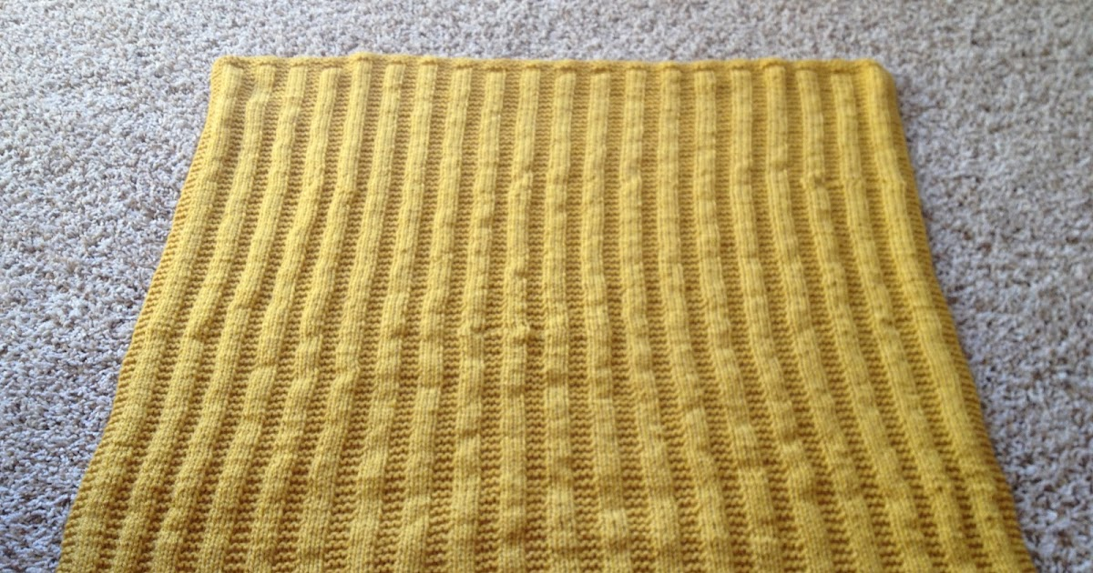 Knit And Purl Stitch Baby Blanket : Sarah Christine Design: knit, purl, repeat: garter rib baby blanket