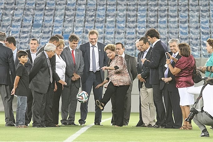 Dilma Rousseff participa de inauguração da Arena das Dunas em Natal
