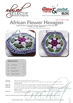 African Flower Hexagon Crochet Pattern Free : RubyRed Eclectic: FREE Pattern - African Flower Hexagon ...
