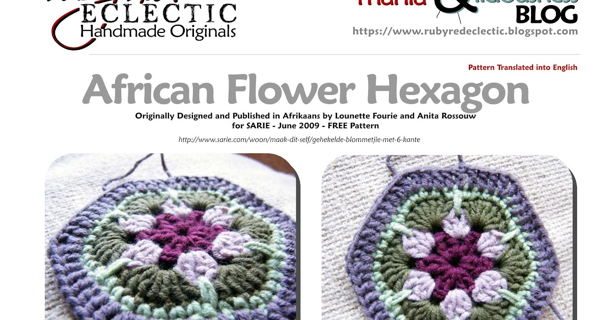 RubyRed Eclectic: FREE Pattern - African Flower Hexagon ...