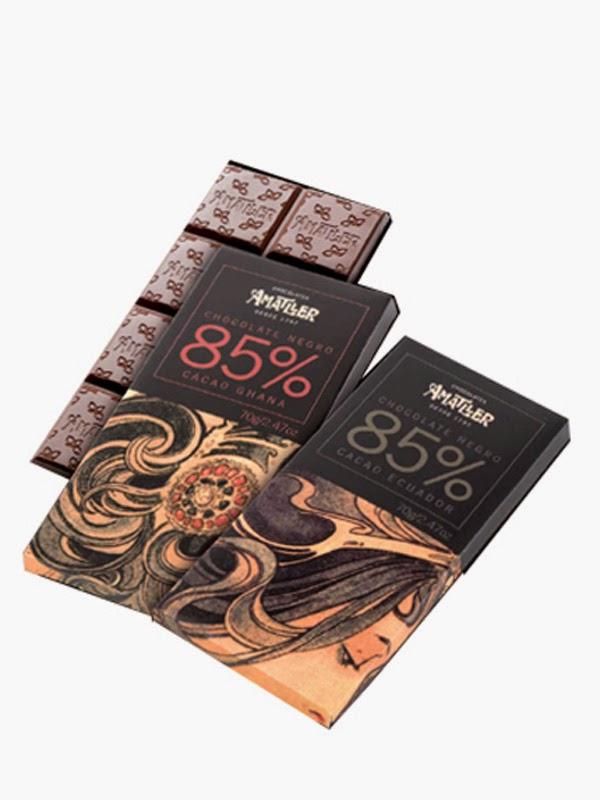 chocolates amatller 85% cacao ecuador sdesabor