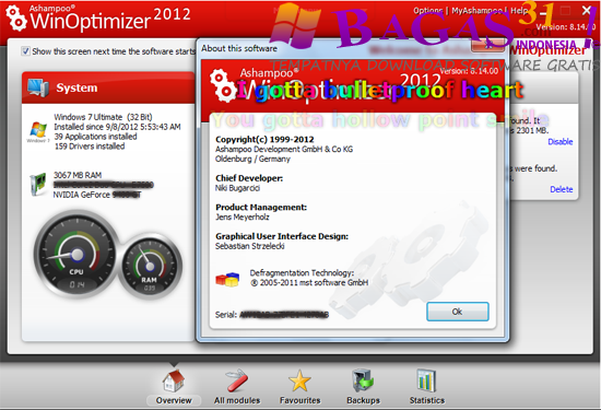 Ashampoo WinOptimizer 2012 8.1.4 Full Serial 2