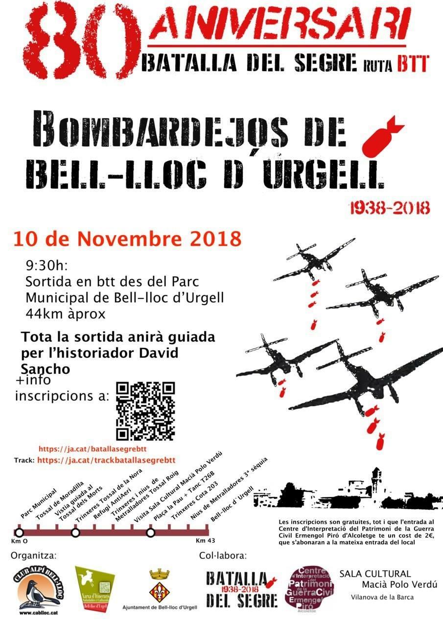 """Ruta BTT """"Els bombardejos de Bell-lloc d'Urgell"""""""
