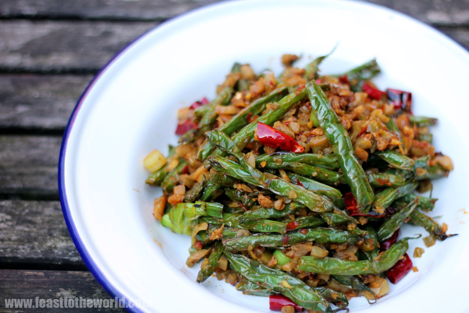 long karl s sichuan dry fried long dry fried green beans gan dry fried ...