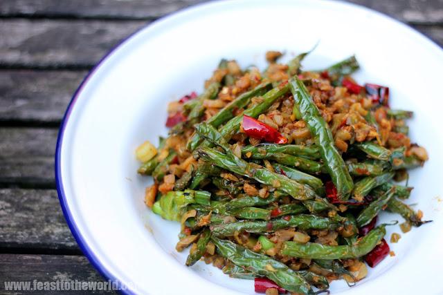 FEAST to the world: Sichuan (Szechuan) Dry Fried Four ...