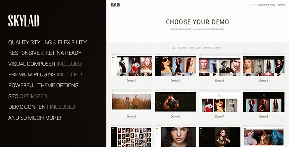 Skylab v2.0 – Portfolio / Photography Theme WordPress