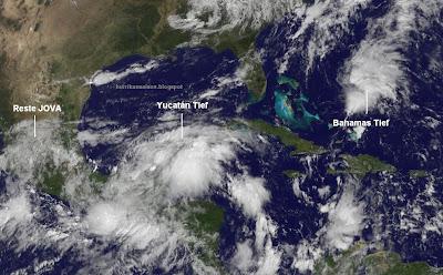 Florida und US-Ostküste: Da könnte nächste Woche schon wieder einiges zusammenkommen, Wettervorhersage Wetter, Florida, US-Ostküste Eastcoast, USA, Oktober, Satellitenbild Satellitenbilder, 2011, Hurrikansaison 2011, aktuell, Golf von Mexiko, Yucatán, Bahamas,
