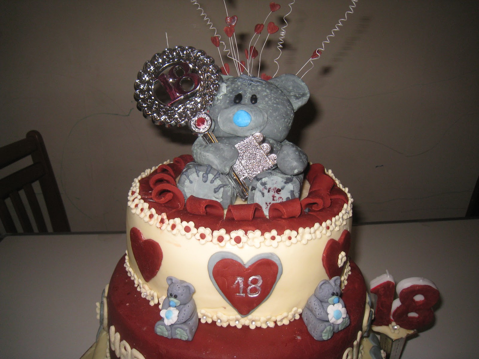 Rajany 39 s cake decorations and sugarcraft me to you 18th for 18th cake decoration